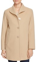 Cinzia Rocca Icons Topstitched Wool-Blend Coat