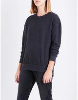 Sundry Embroidered reverse cotton sweatshirt