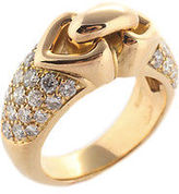 Bvlgari Parentesi 18kt Yellow Gold 40 Diamond Ring Size 6.25