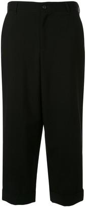 Yohji Yamamoto Cropped Loose Fit Trousers
