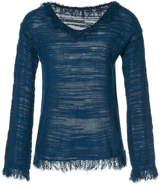 Onefifteen Distressed Fringe Trim Top