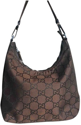 Gucci Hobo Brown Cloth Handbags