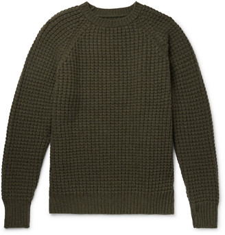Kingsman Waffle-Knit Wool And Cashmere-Blend Sweater