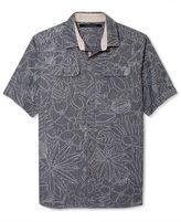 Sean John Big and Tall Shirt, Printed Chambray Short Sleeve Shirt
