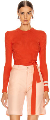 Maggie Marilyn Nearly There Sweater in Orange & White | FWRD