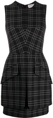 Alexander McQueen Check-Pattern Sleeveless Dress