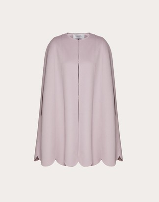 Valentino Compact Wool Cape Women Water Lilac Virgin Wool 95%, Cashmere 5% 38