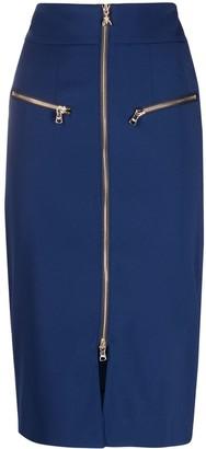 Patrizia Pepe Zipped-Up Midi Skirt