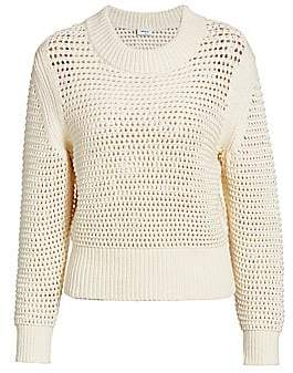Akris Punto Women's Chunky Open Knit Crewneck Sweater
