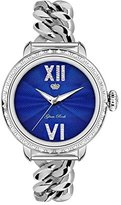 Glam Rock Women's Bal Harbour 40mm Steel Bracelet & Case Swiss Quartz Blue Dial Analog Watch GR77030