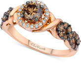 LeVian Le Vian Chocolatier® Diamond Ring (9/10 ct. t.w.) in 14k Rose Gold