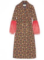 Gucci Horsebit jacquard wool coat
