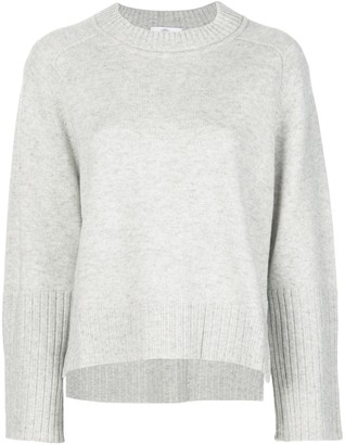 Allude crew neck relaxed-fit jumper