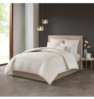 Natori Hanae White Duvet Cover Set