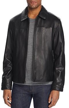 Cole Haan Leather Zip-Front Jacket