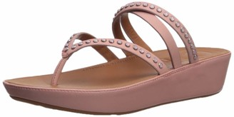 FitFlop Women's LINNY Criss Cross Toe-Thong Sandals-Crystal
