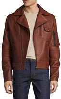 Michael Bastian Leather Pocketed Jacket