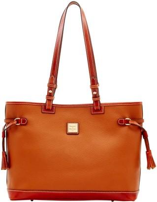 Dooney & Bourke Pebble Grain Double Strap Tassel Bag