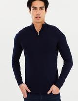 Armani Jeans Zip Through Knit Jumper