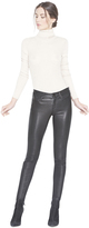 Alice + Olivia Black Angie Leather 5 Pocket Pant