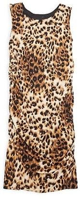 Un Deux Trois Girl's Animal Print Sleeveless Dress