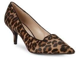 Kurt Geiger London Peony Leopard Print Calf Hair & Leather Pumps