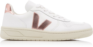 Veja V-10 Low-Top Leather Sneakers