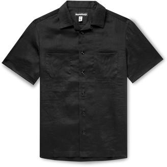 MONITALY Vacation Camp-Collar Linen Shirt - Men