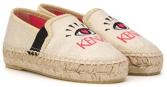 Kenzo Kids Eye logo embroidered espadrilles