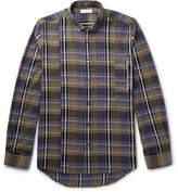 Public School Retor Button-Down Collar Panelled Checked Cotton Shirt