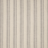 John Lewis Parton Stripe Twill Fabric, Storm Grey, Price Band D