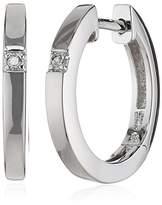 Celesta 360210173 I3 Light Yellow Round cut 0.02 carats Diamond Sterling Silver 925 Creole Earrings