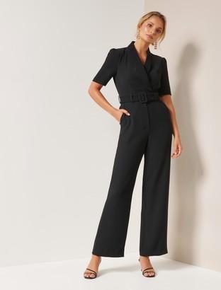 Forever New Caitlin Belted Jumpsuit - Black - 10
