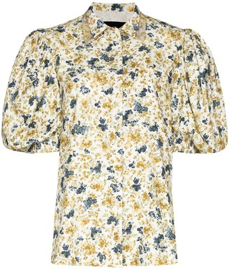 ANOUKI Floral-Print Puff-Sleeve Shirt