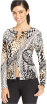 August Silk Printed Cardigan