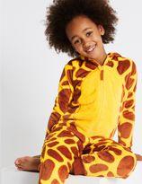 Marks and Spencer Giraffe Print Hooded Onesie (1-16 Years)
