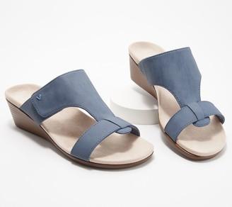 Vionic Adjustable Slide Wedge Sandals - Regina
