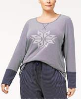 Nautica Plus Size Reversible Pajama Top