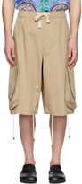 J.W.Anderson Beige Oversized Drawstring Cargo Shorts