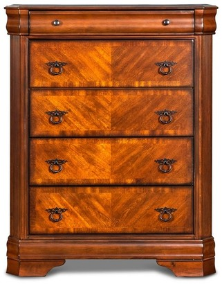 New Classic Home Sheridan Burnished Cherry 5-drawer Chest