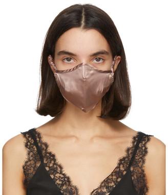 Fleur Du Mal SSENSE Exclusive Tan Silk Luxe Face Mask