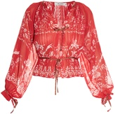 Etro Floral-print pleated blouse