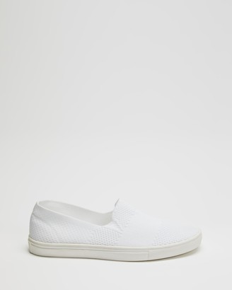 Spurr Women's White Slip-On Sneakers - Reynold Comfort Sneakers - Size 5 at The Iconic