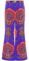 Gucci Printed silk trousers
