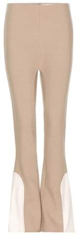 Marc Jacobs Flared wool-blend trousers