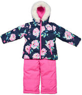 Carter's Pink Floral Long-Sleeve Hooded Coat - Preschool Girls
