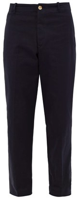 Holiday Boileau Relaxed Leg Cotton Twill Chino Trousers - Mens - Navy