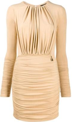 Elisabetta Franchi Ruched Long-Sleeve Dress