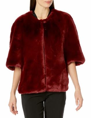 Adrianna Papell Women's Faux Fur Jacket