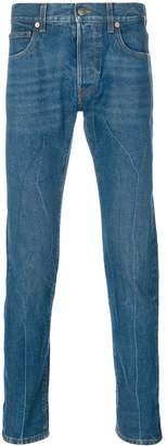 Gucci Blind for Love embroidered jeans
